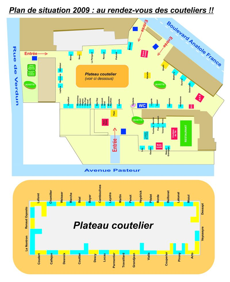 Plateau coutelier 2009